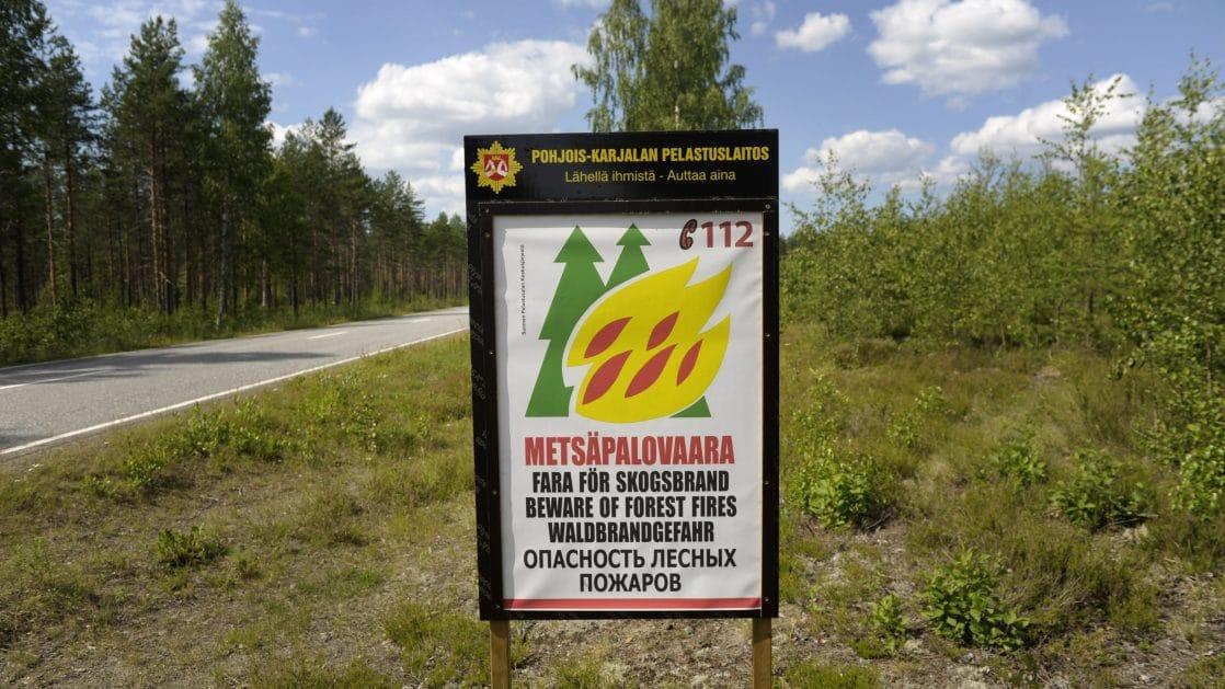 Metsäpalovaroitus Voimassa