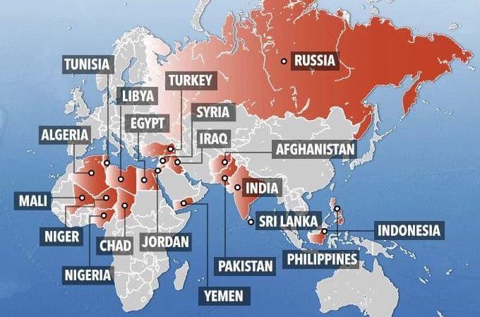 Kartta Nayttaa Nain Isis Yha Terrorisoi Verkkouutiset Fi