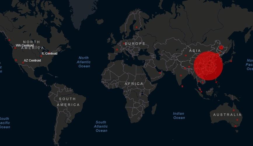 Kartta Nayttaa Nain Rajusti Koronavirus Levisi Kahdessa Viikossa