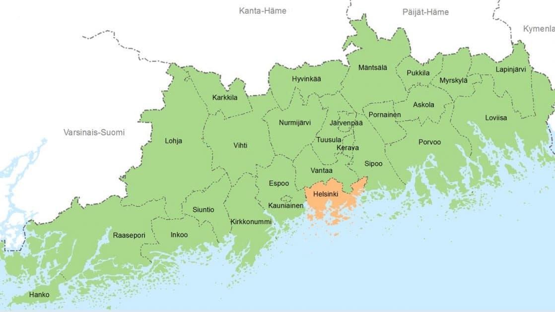 Uusimaa Kartta